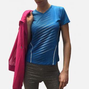 Niebieska Damska Koszulka Sportowa 98791