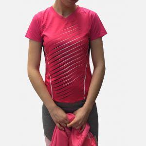 Różowa Damska Koszulka Sportowa 98791
