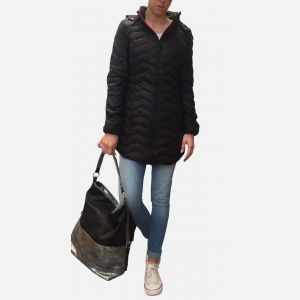 Czarna kurtka damska płaszczyk 57163