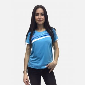 Niebieska koszulka fitness 28024