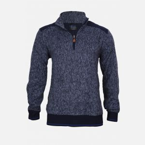 Bluza męska z zamkiem granatowo-czarna 61440