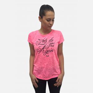 Bluzka damska z napisem różowa 61394