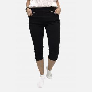 Spodnie damskie 3/4 z kieszeniami czarne - 46193