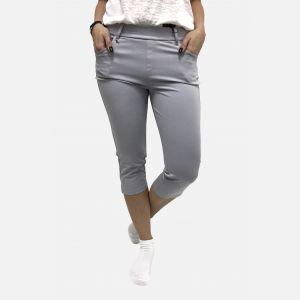 Spodnie damskie 3/4 z kieszeniami szare - 46193