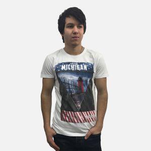 Koszulka męska Michigan biała - 61269