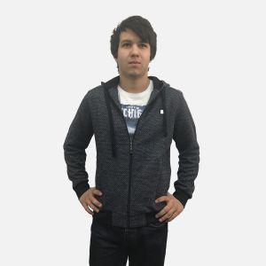 Bluza męska z kapturem rozpinana czarna 57295