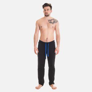 Spodnie Męskie Dresowe - Czarno - Niebieskie 57362