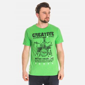 Koszulka Męska Bawełniana - Zielona 61039