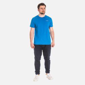 Koszulka Męska Bawełniana - Niebieska 65202