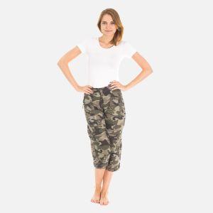 Spodnie Damskie Rybaczki - Moro Zielone (4000)
