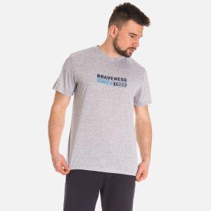 Koszulka Męska Bawełniana - Szara (67310)