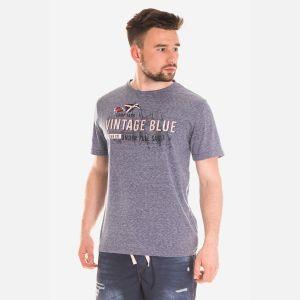 Koszulka Męska Bawełniana - Grafitowo-Czerwona 46413