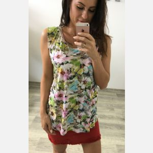 Bluzka Damska Benter - Kolorowe Kwiaty (61622)