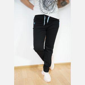 Sportowe spodnie dresowe damskie czarne 46887