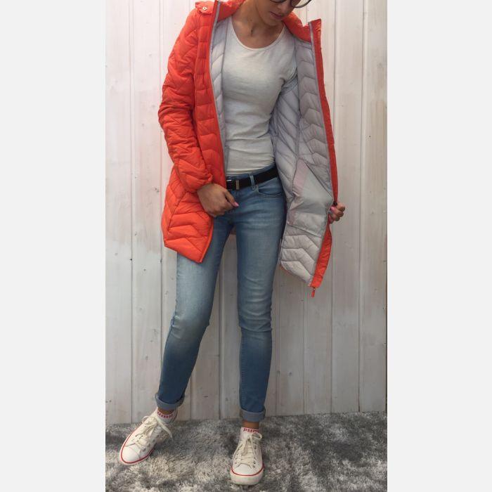 Czerwona kurtka damska płaszczyk 57163