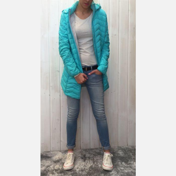 Niebieski płaszczyk / kurtka damska 57163