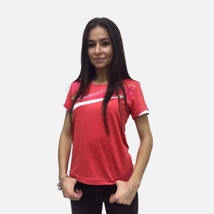 Koralowa koszulka fitness 28024