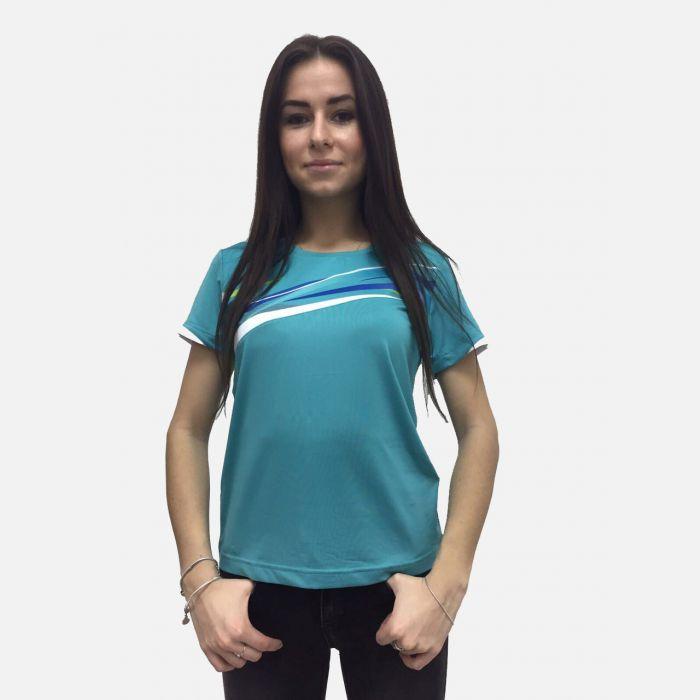 Turkusowa koszulka fitness 28024