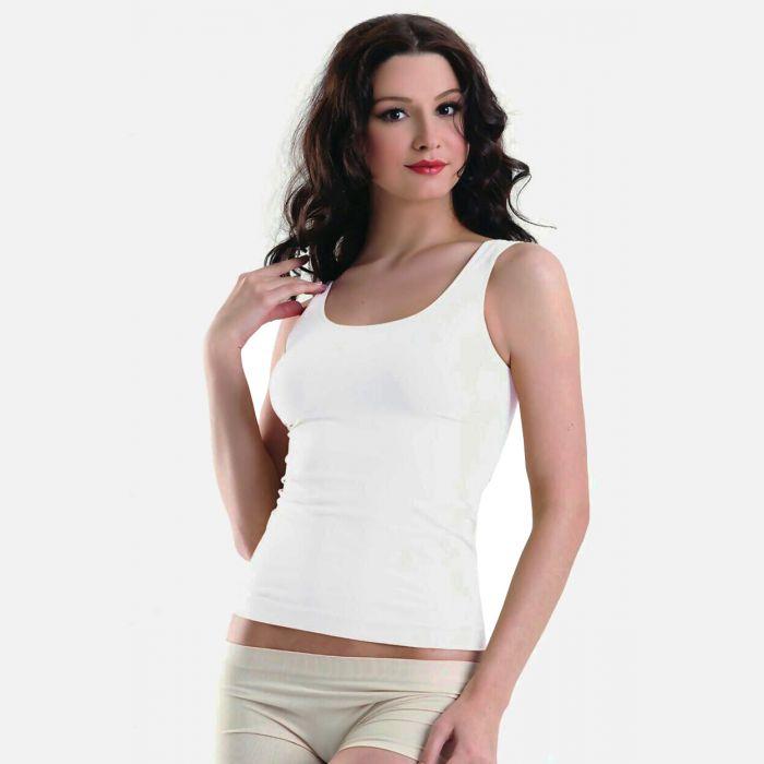 Podkoszulka damska szerokie ramiączko biała 301