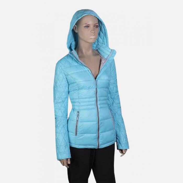 Kurtka damska pikowana niebieska 57008
