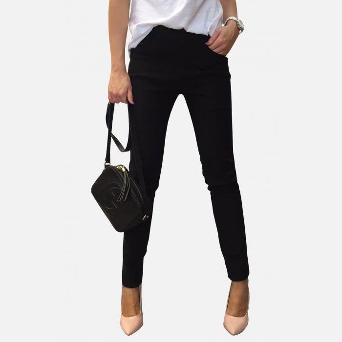 Spodnie damskie wąskie czarne - 46340