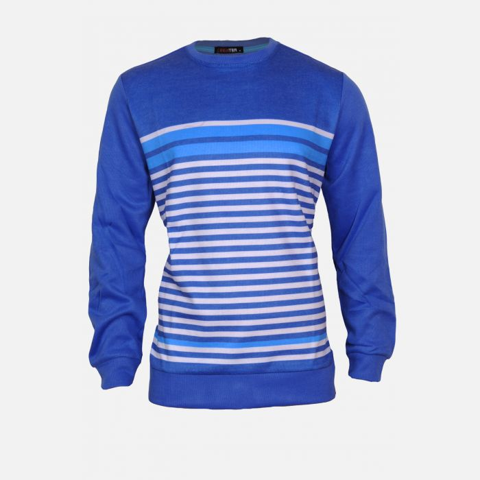 Bluza męska w paski niebieska 16935
