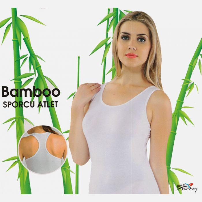 Koszulka damska z włókna bambusowego bokserka biała 702
