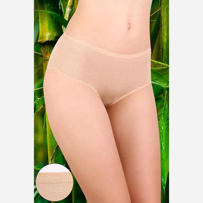 Majtki damskie bambusowe 3 pak z wysokim stanem mix kolorów - 904