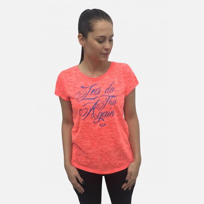 Bluzka damska z napisem koral 61394