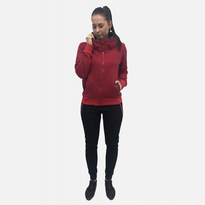 Bluza damska z kołnierzem czerwona 57182