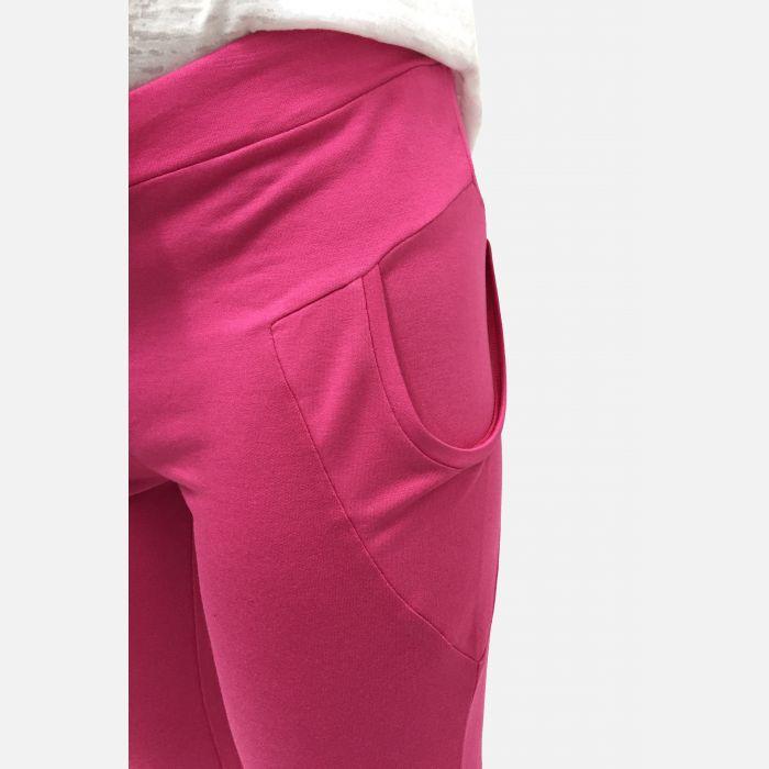 Damskie spodnie fitness 3/4 w kolorze fuksji 46081