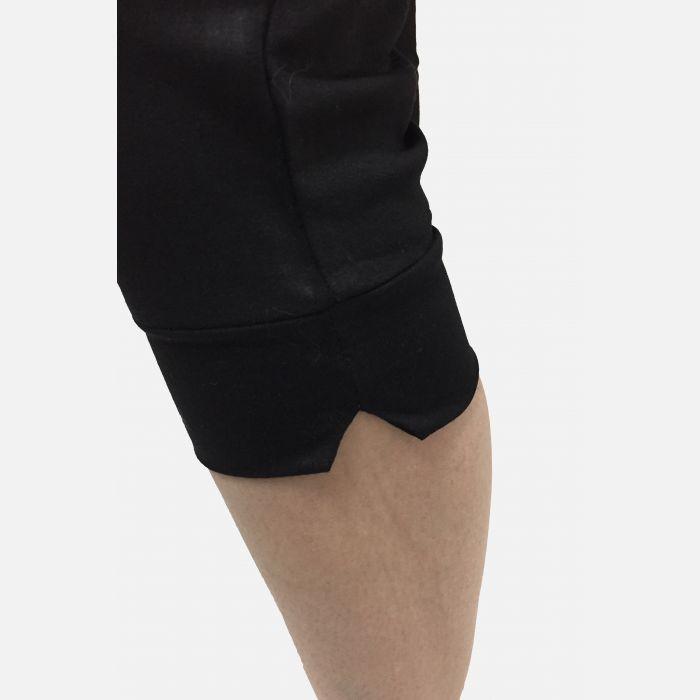 Damskie spodnie fitness 3/4 w kolorze czarnym 46081