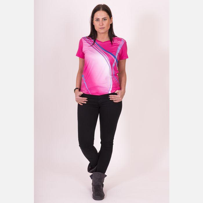 Koszulka Sportowa Oddychająca Malinowa 28030