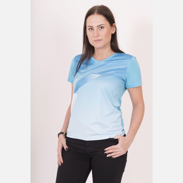 Oddychająca Koszulka Sportowa Błękitna 28032