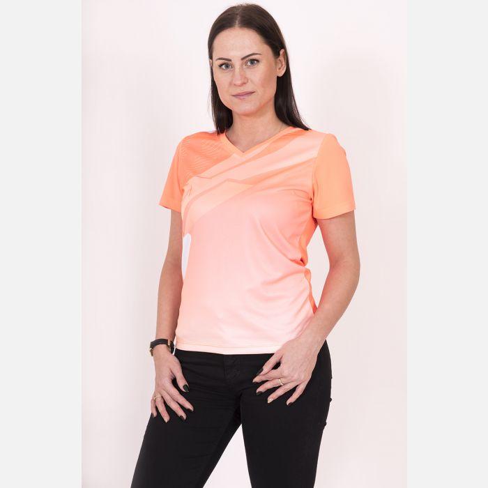 Oddychająca Koszulka Sportowa Pomarańczowa 28032