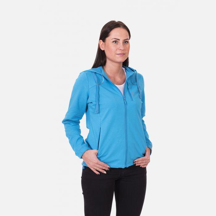 Bluza damska z kapturem niebieska 57095