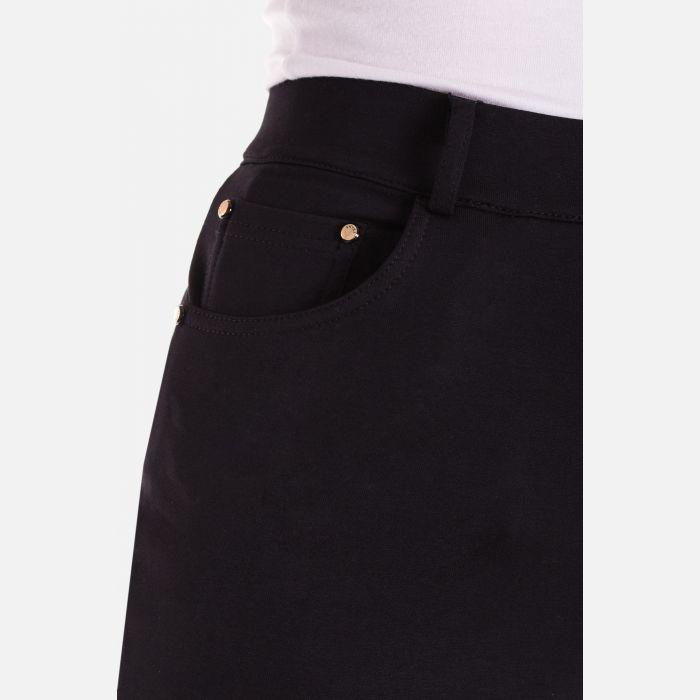 Eleganckie spodnie damskie czarne 46369
