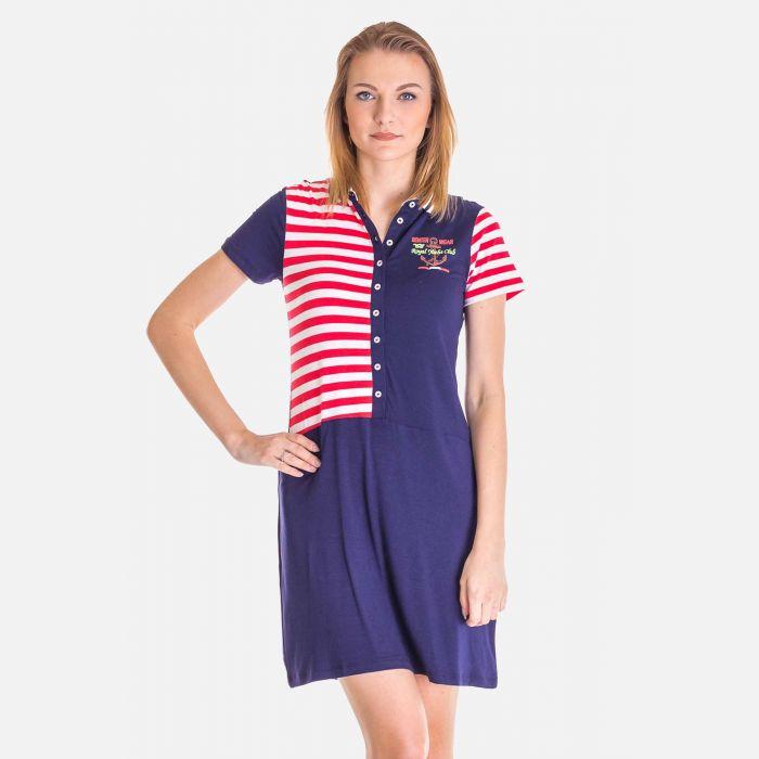 Sukienka Marynarskie Czerwone Pasy - 16811