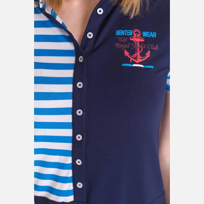 Sukienka Marynarskie Nebieskie Pasy - 16811