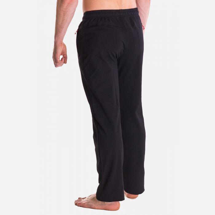 Spodnie Męskie Dresowe - Czarno - Czerwone 57355