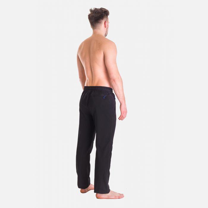 Spodnie Męskie Dresowe - Granatowo - Niebieskie 57355