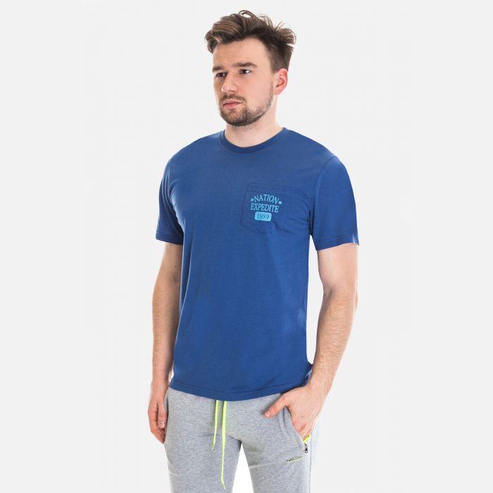 Koszulka Męska Benter - Ciemno - Niebieska 67306