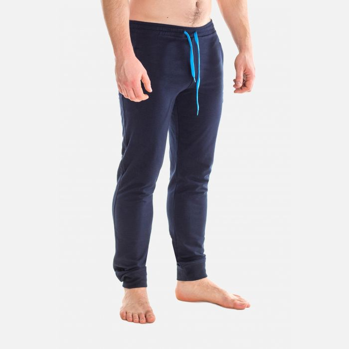 Spodnie Męskie Dresowe - Granatowe 66271