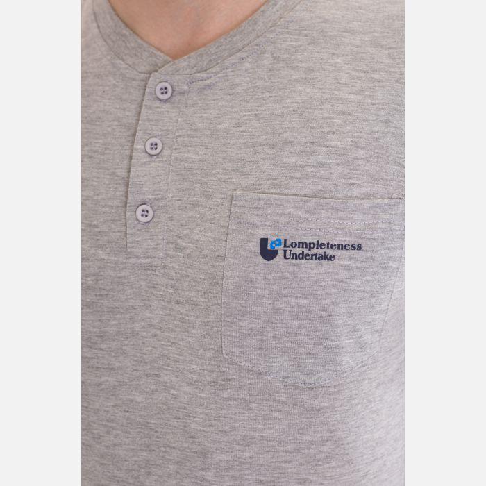 Koszulka Męska Benter - Jasno Szara 67307
