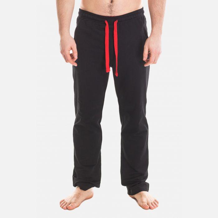 Spodnie Męskie Dresowe - Czarno - Czerwone 57362