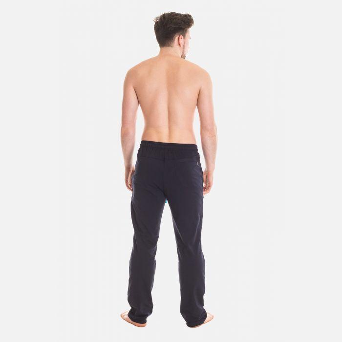 Spodnie Męskie Dresowe - Granatowo - Niebieskie 57362