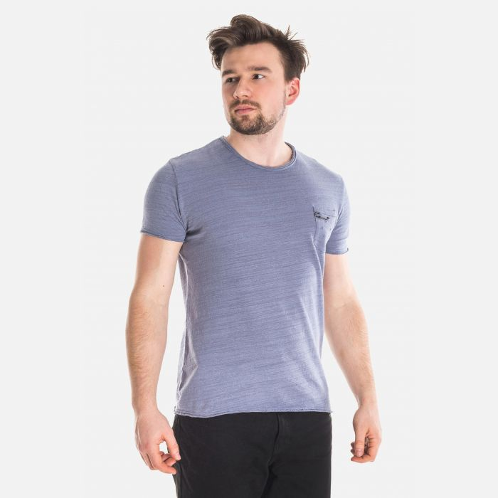 Koszulka Męska Włoska - Granatowa F755