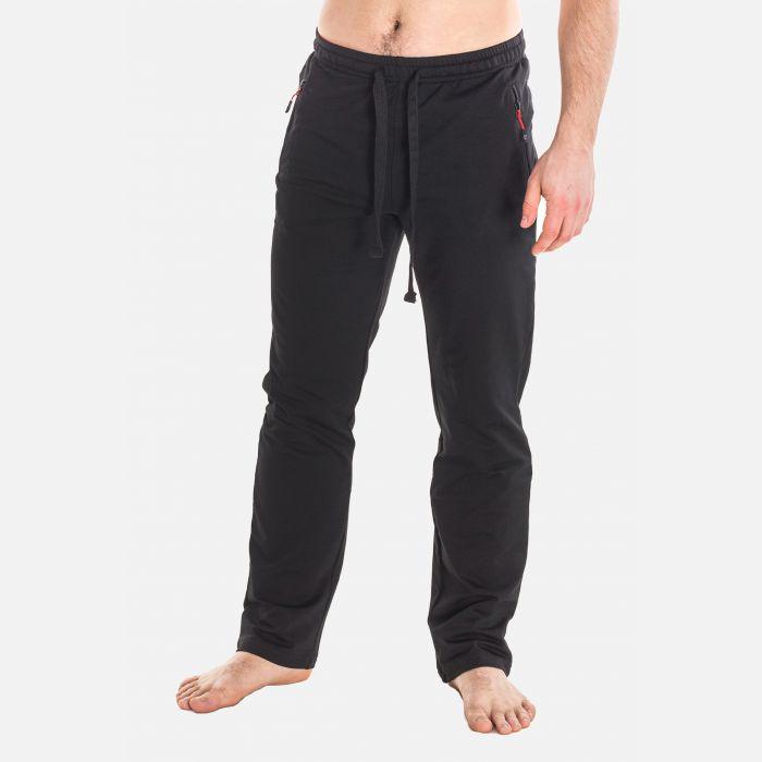 Spodnie Męskie Dresowe - Czarno - Czerwone 57361