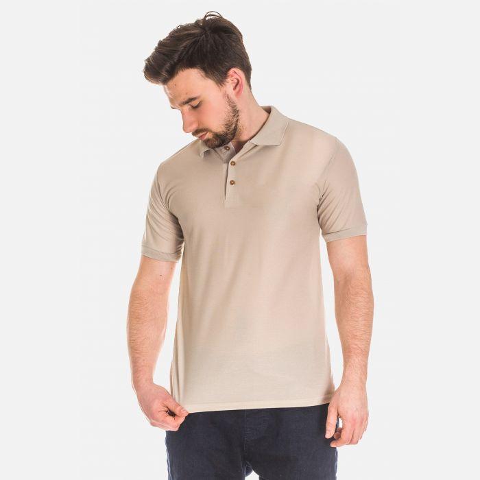 Koszulka Męska Polo - Beżowa 17534