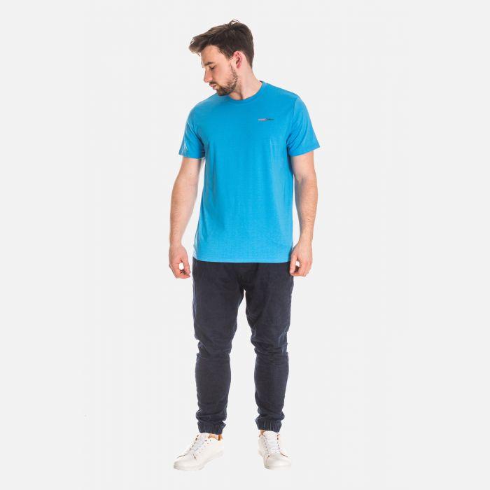 Koszulka Męska Bawełniana - Błękitna 65202